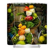 Fruit Stall In Vietnamese Market Shower Curtain