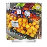 Fruit Stand Hoboken Nj Shower Curtain