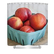 Fruit Stand Nectarines Shower Curtain