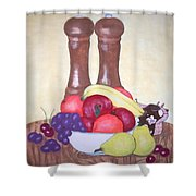 Fruit Table Shower Curtain
