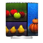 Fruit Trilogy Shower Curtain