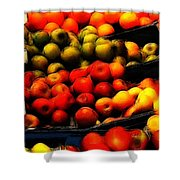 Fruits On The Market Shower Curtain