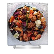 Fruity Tea With Bamboo Leaves Shower Curtain