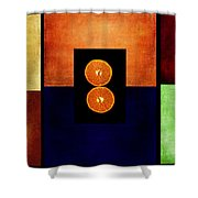 Fruity Triptych Shower Curtain