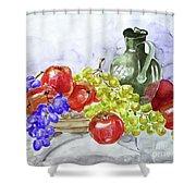 Fruit After Him Shower Curtain