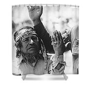 Ft. Apache Homage 1948 Ft. Apache Celebration Ft. Apache Arizona Saluting Apaches 1970 Shower Curtain
