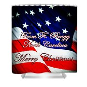 Ft. Bragg - Christmas Shower Curtain