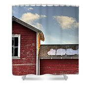Ft Collins Barn 13493 Shower Curtain by Jerry Sodorff