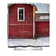 Ft Collins Barn 13496 Shower Curtain by Jerry Sodorff