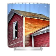 Ft Collins Barn 13502 Shower Curtain by Jerry Sodorff