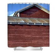 Ft Collins Barn 13550 Shower Curtain by Jerry Sodorff