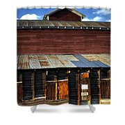 Ft Collins Barn 13553 Shower Curtain by Jerry Sodorff