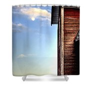 Ft Collins Barn And Moon 13586 Shower Curtain