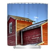 Ft Collins Barn Sunset 13505 Shower Curtain by Jerry Sodorff