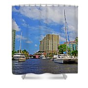 Ft. Lauderdale Canal Shower Curtain