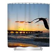 Ft Lauderdale Fishing Pier Shower Curtain