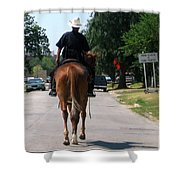 Ft Worth Texas Police Shower Curtain