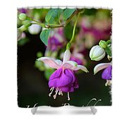 Fuchsia Birthday Card Shower Curtain