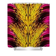 Fuchsia Sensation Abstract Shower Curtain