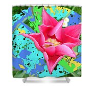 Fuchsia Tulip By M.l.d. Moerings 2012 Shower Curtain