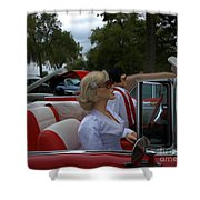 Fuel Injection Cadillac Shower Curtain