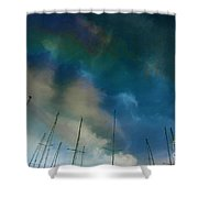 Fuel Sky Shower Curtain