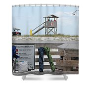 Full Day At The Beach Shower Curtain