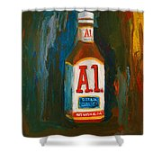 Full Flavored - A.1 Steak Sauce Shower Curtain