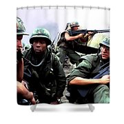 Full Metal Jacket Shower Curtain