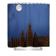 Full Moon At Bandiagara Mali Shower Curtain