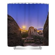 Full Moon At City Of Rocks Shower Curtain