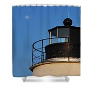 Full Moon At Piney Point Shower Curtain