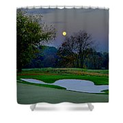 Full Moon At The Philadelphia Cricket Club Shower Curtain by Bill Cannon