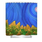 Full Moon Forest By Jrr Shower Curtain