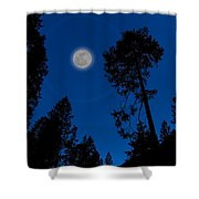 Full Moon In Yosemite Shower Curtain