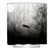 Full Moon Light Shower Curtain