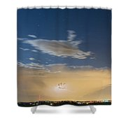 Full Moon Light Shower Curtain