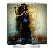 Full Moon Moxie Shower Curtain