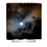 Full Moon Night Shower Curtain
