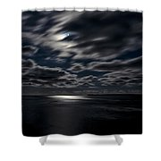 Full Moon On The Bay Of Fundy Shower Curtain