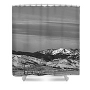 Full Moon On The Co Front Range Bw Shower Curtain