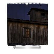 Full Moon Over Barn Shower Curtain