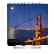Full Moon Over San Francisco Shower Curtain