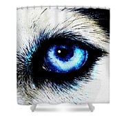 Full Moon Reflection Shower Curtain