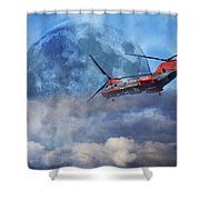 Full Moon Rescue Shower Curtain