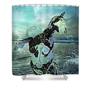 Full Moon Twist And Shout Shower Curtain