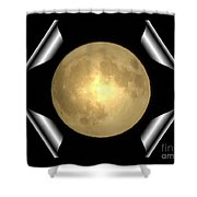 Full Moon Unfolding Shower Curtain
