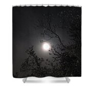 Full Pink Moon Shower Curtain