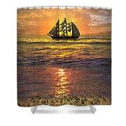 Full Sail Shower Curtain