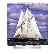 Full Sails Ahead Shower Curtain